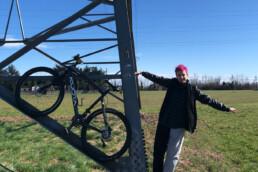 foto, bici, persona