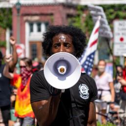 attivista, manifestazione