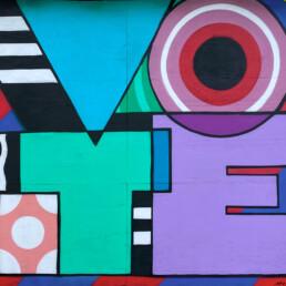 vote street art